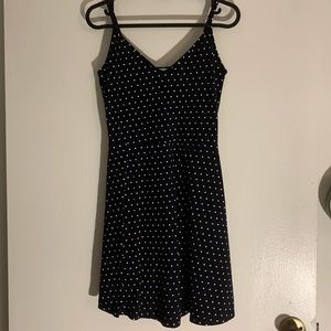 H&M Small Navy Blue Dress with White Polka dots